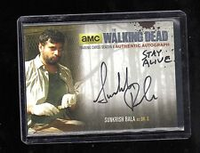 Walking Dead season 4 part 1 Sunkrish Bala SiILVER AUTO( STAY ALIVE SUPER RARE)