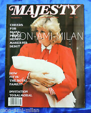 MAJESTY MAGAZINE 1984 Vol 5 No 6 PRINCESS DIANA Prince Harry QUEEN MOTHER Queen