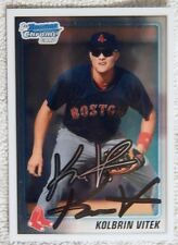 Boston Red Sox Kolbrin Vitek Signed 2010 Bowman Chrome 1st Card Auto