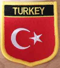 TURKEY Turkish Shield Country Flag Embroidered PATCH Badge P1