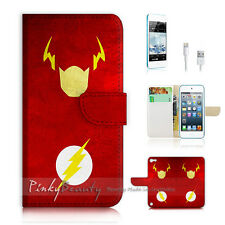 iPod Touch iTouch 5 Print Flip Wallet Case Cover! Super Hero The Flash P0076