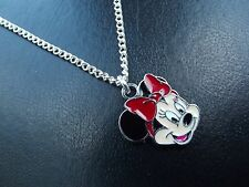Minnie Mouse Neckalce  Enamel & SP Necklace