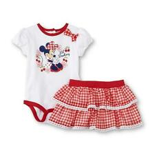 Disney Baby Minnie Mouse Bodysuit & Ruffle Skirt Set - 6/9 Months NWT Baby Girl