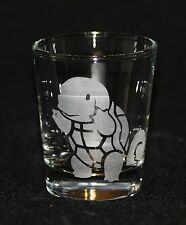 Pokemon Squirtle Custom Etched Shot Glass