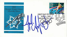 APOLO OHNO hand signed 1992 FDC autographed - Olympic speed skating
