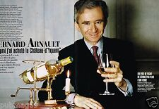 Coupure de Presse Clipping 1996 (4 pages) Bernard Arnault Chateau d'Yquem