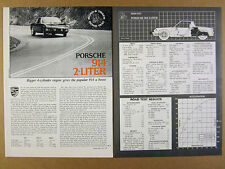 1973 Porsche 911S 911 S & Carrera RSR Road Test review print article