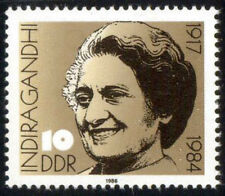 EAST GERMANY 1984-Indira Gandhi-1 Value-MNH Former Prime Minister of India