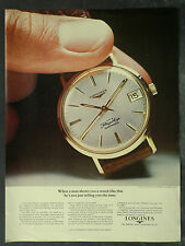 Longines Flagship Automatic Wristwatch 1962 1 Page Advertisement Ad 4454