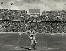 1936 Vintage OLYMPICS DISCUS Ken Carpenter USA Track Field Photo Art RIEFENSTAHL