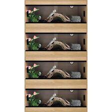 """Terapod Stack of 4 - 36"""" 3ft Slim Oak Pro Reptile Vivarium Housing  3 Foot"""