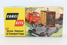 Corgi Toys No 607 Chipperfields Circus Elephant & Transport Cage - unmade boxed