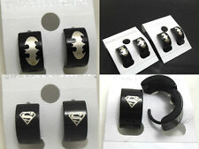 24 pairs Men's Batman superman Super Hero Stud Earring Bat Stainless Steel lots