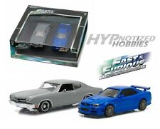 GREENLIGHT 1:43 FAST & FURIOUS 2PC SET CHEVY CHEVELLE & NISSAN SKYLINE  86252
