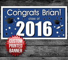 Graduation Graduate School College Personalized Party Banner Blue Decoration