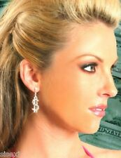 BOUCLES OREILLES BIJOU SEXY DOLLAR SOIREE DISCO CLUBWEAR STRASS BRILLANT