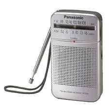 Panasonic Portable AM/FM 2-Band Receiver Pocket Radio - Silver RF-P50