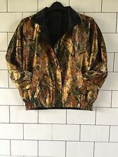 WOMENS REVERSIBLE VINTAGE OLD SCHOOL RETRO 90'S URBAN SHELLSUIT CRAZY JACKET #37