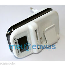 Cargador unversal bateria camara movil + USB + Coche mechero plegable pantalla