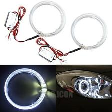"2pcs White 3.0"" LED Guide Angel Eyes Halo Rings For Cars HID Headlights Mods DIY"