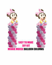 Baby Minnie Mouse BIRTHDAY COLUMN Balloons Decorations Cake Gift Table Shower
