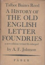Reed. A history of the old english letter foundries. A cura di Johnson. Y1