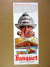 1964 CFD chicago Fire Commissioner Helmet photo Banquet TV Dinners print Ad