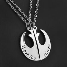 Star Wars I Love You I Know Couple Necklace Two Part Necklaces Gifts For Lover