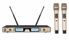PROFESSIONAL UHF WIRELESS DUAL MICROPHONE SYSTEM FOR SHURE SM58 WIRELESS
