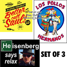 Fridge Fun Refrigerator Magnets BREAKING BAD LOS POLLOS HERMANOS SAUL Set of 3