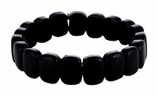 Natural Black Tourmaline Stone Carving Reiki Healing Power Aura Energy Bracelet