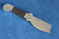 Vintage HECTOR AGUILAR Aztec Wood Sterling Silver Cheese Serving Knife Mexico