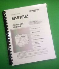 COLOR PRINTED Olympus Camera SP-510UZ SP510UZ Manual User Guide 96 Pages.