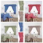 GINGHAM CHECK KITCHEN TABLECLOTHS ,CURTAINS , NAPKINS ,CHAIR PADS