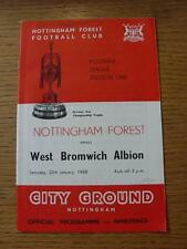 "20/01/1968 Nottingham Forest v West Bromwich Albion  (""Referee/Linesman"" Noted O"