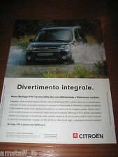 *AM32=CITROEN BERLINGO XTR=PUBBLICITA'=ADVERTISING=WERBUNG=COUPURE=