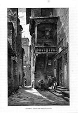 Stampa antica: FIRENZE Loggia Mercato Nuovo 1876 Old print Florence Engraving
