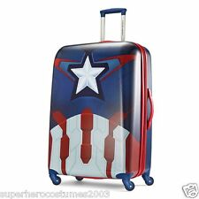 "American Tourister Luggage Marvel Comics Captain America 28"" Spinner Upright New"