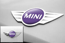 "Mini Cooper 1.75"" Inch Logo Emblems Decals x2 Vinyl Stickers for Badges PURPLE"