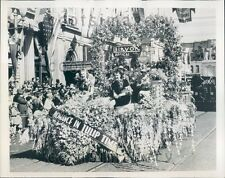 1939 Float in Parade Golden Jubilee Spring Festival Bellingham WA Press Photo