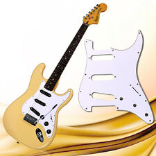 Stratocaster guitar 3-Ply PVC Pickguard Scratch Plate For ST Strat SSS-white