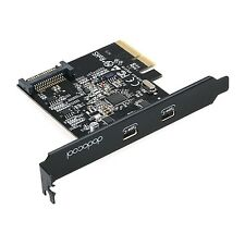Adattatore SuperSpeed USB 3.1 PCI-Express Card Con doppio reversibile Type-C PORTA.