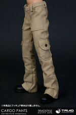 Triad Toys 1/6 Scale FEMALE KHAKI CARGO PANTS for slim waist bodies