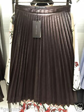ZARA SIZE M / 38 40 PLISSEE LEDERROCK ROCK KUNSTLEDER FAUX LEATHER PLEATED SKIRT