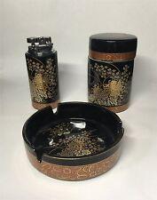 Vintage Japanese  porcelain cigarette smoking set.