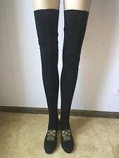 Chanel Black Suede Baroque Collection Extra Long Boots Size 38.5, Retail $5610.