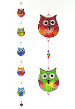 Owls on a string suncatcher garden mobile, window or ceiling decor FREE SHI