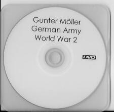 GUNTER MOLLER GERMAN ARMY & HITLER YOUTH RARE INTERVIEW DVD
