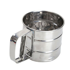 Stainless Steel Mesh Flour Sifting Sifter Sieve Strainer Cake Baking Kitchen New