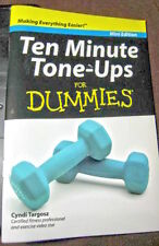 Book Mini Edition, 10 Minute Tone-Ups For Dummies ! Cardio Fitness Exercise SAFE